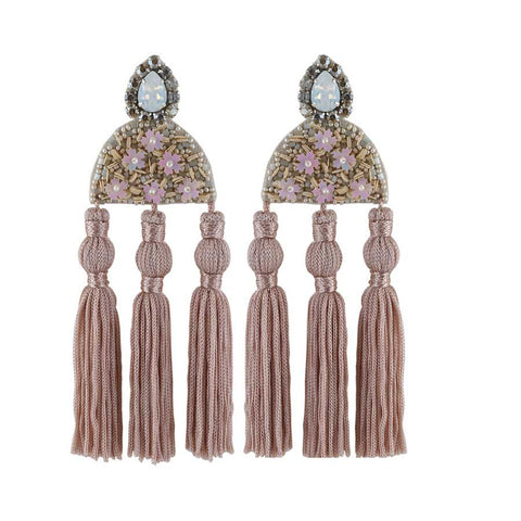 NIGELLA EARRINGS - NUDE
