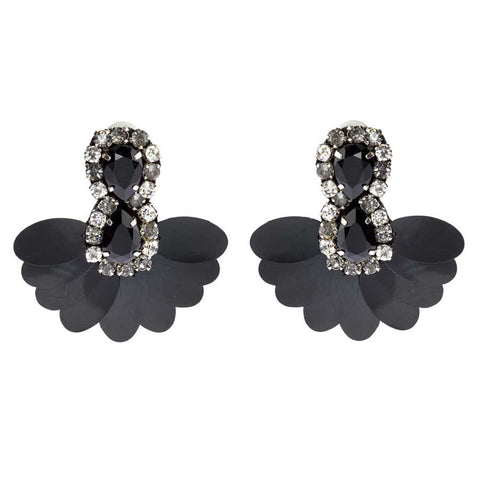 DAHLIA EARRINGS - BLACK