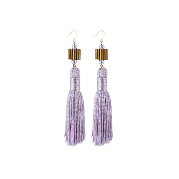 LILY EARRINGS - LAVENDER