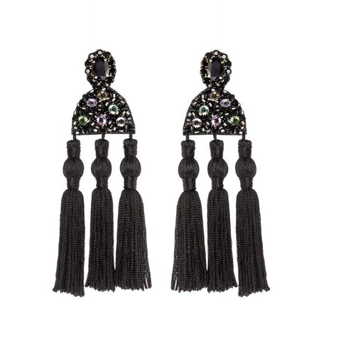 NIGELLA EARRINGS - BLACK