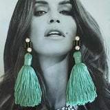 LILY EARRINGS - TEAL
