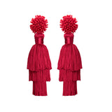 TALEA EARRINGS - RED
