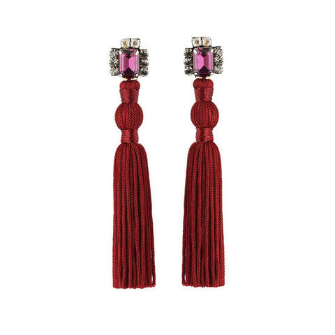 AURATA EARRINGS - WINE