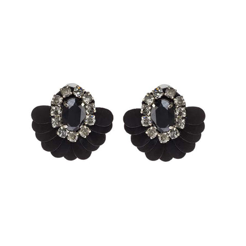 TANSY EARRINGS - BLACK