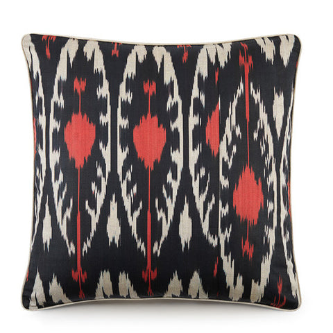 Hand Woven Silk Road Cushion - Slate Rose