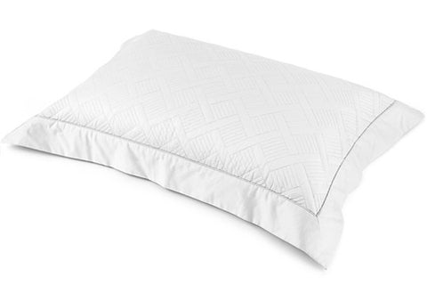Orcia Quilted Tailored Pair Pillowcases - White