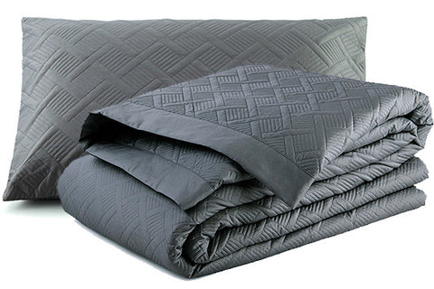 Orcia Quilted Duvet Cover Set Granite