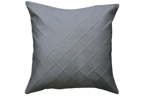Orcia Quilted European Pillowcases - Granite