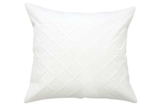 Orcia Quilted European Pillowcases - White
