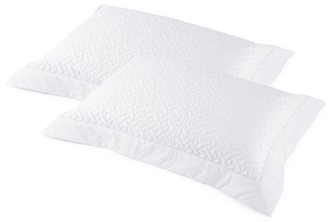 Siena Quilted Tailored Pair Pillowcases - White