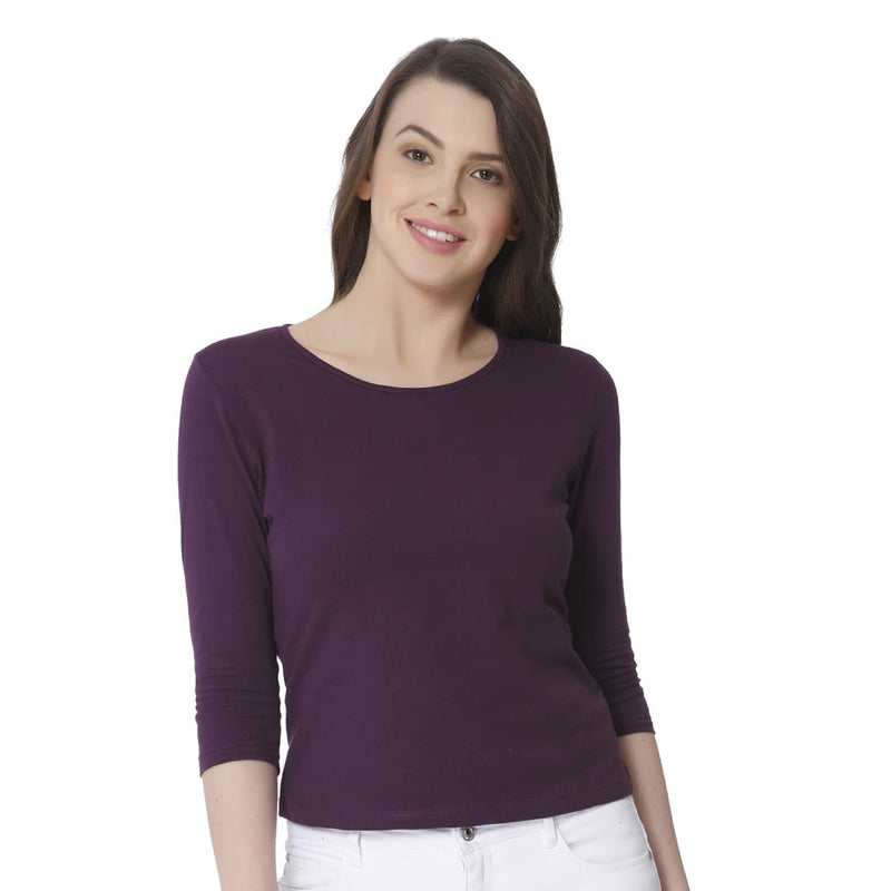 Plain Mauve Women's Snip Top - Teezo Lifestyle