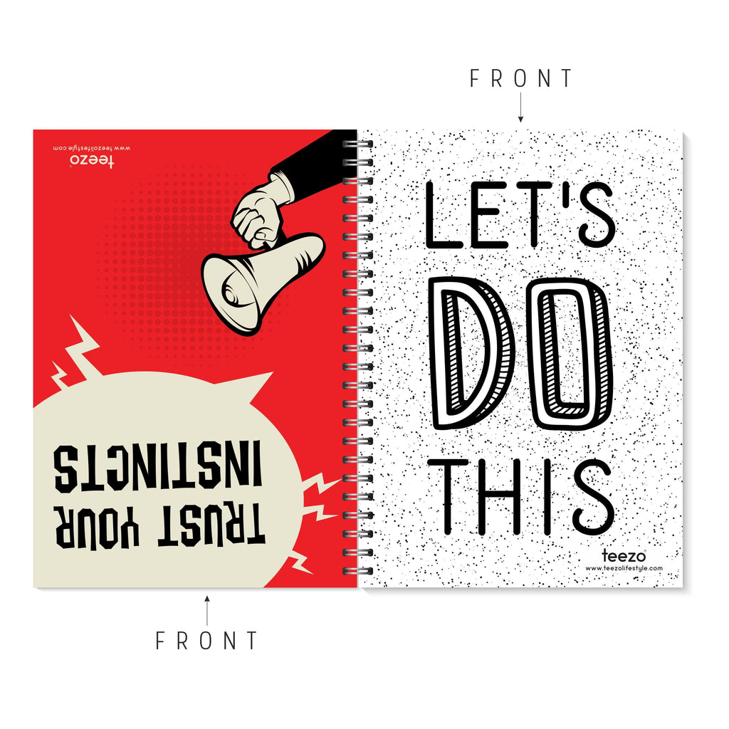 Trust Your Instincts | Let's Do This Two-Way Notebook - Teezo Lifestyle