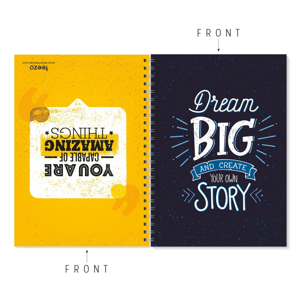 Dream Big | You Are Capable Of Amazing Things Two-Way Notebook - Teezo Lifestyle