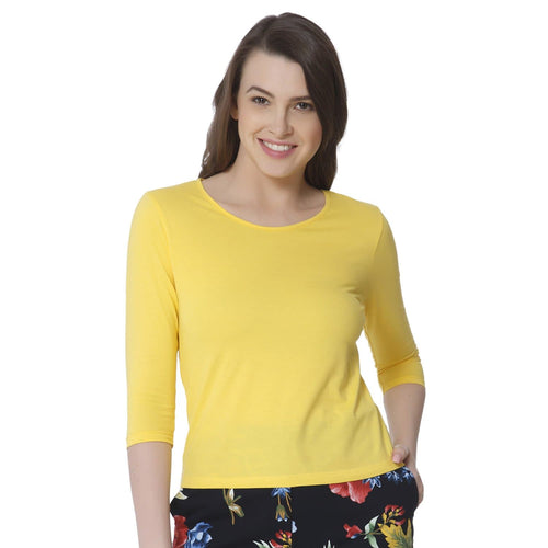 Plain Yellow Women's Snip Top - Teezo Lifestyle
