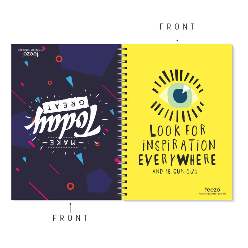 Make Today Great | Look For Inspiration Everywhere Two-Way Notebook - Teezo Lifestyle