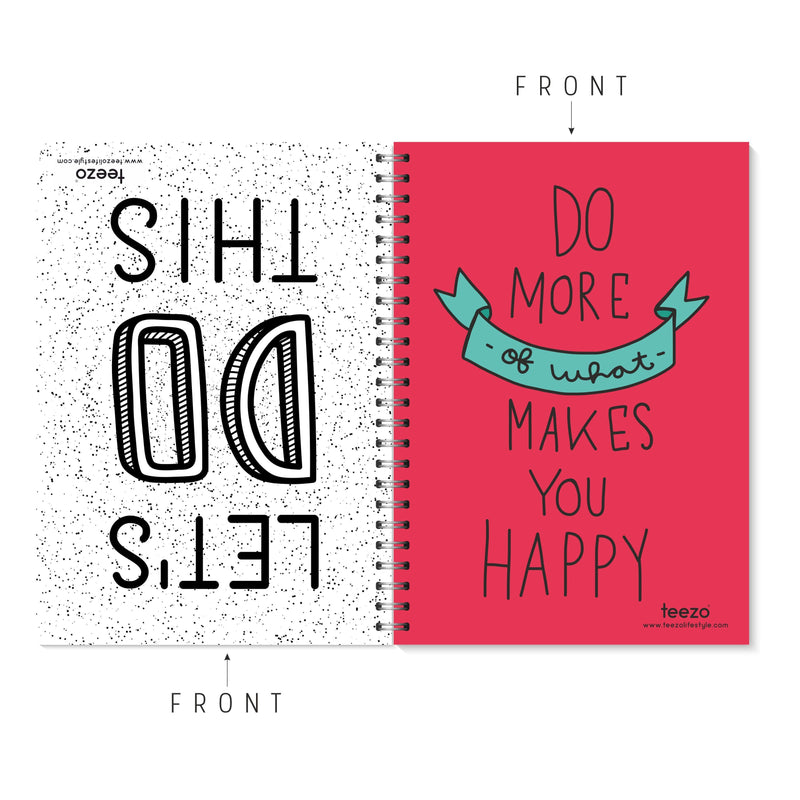 Let's Do This | Do More Of What Makes You Happy Two-Way Notebook - Teezo Lifestyle