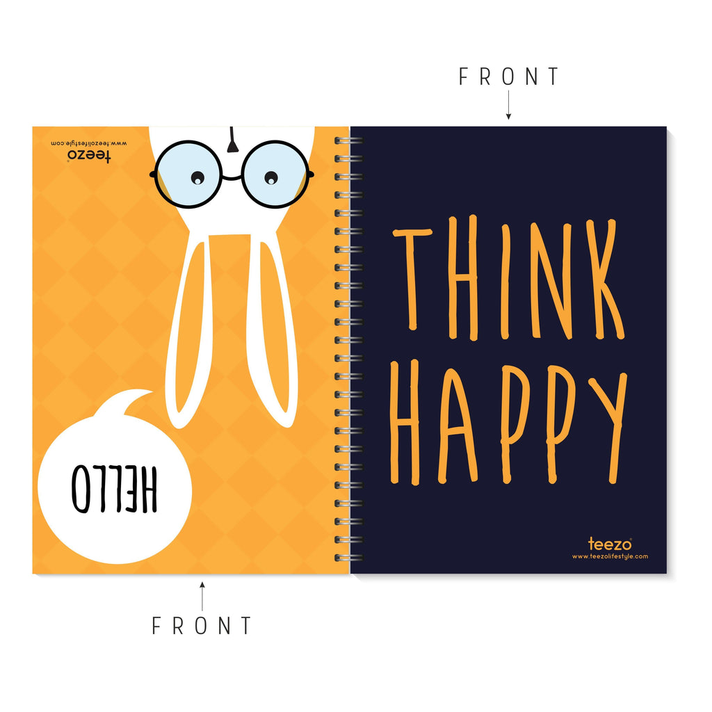 Hello | Think Happy Two-Way Notebook - Teezo Lifestyle