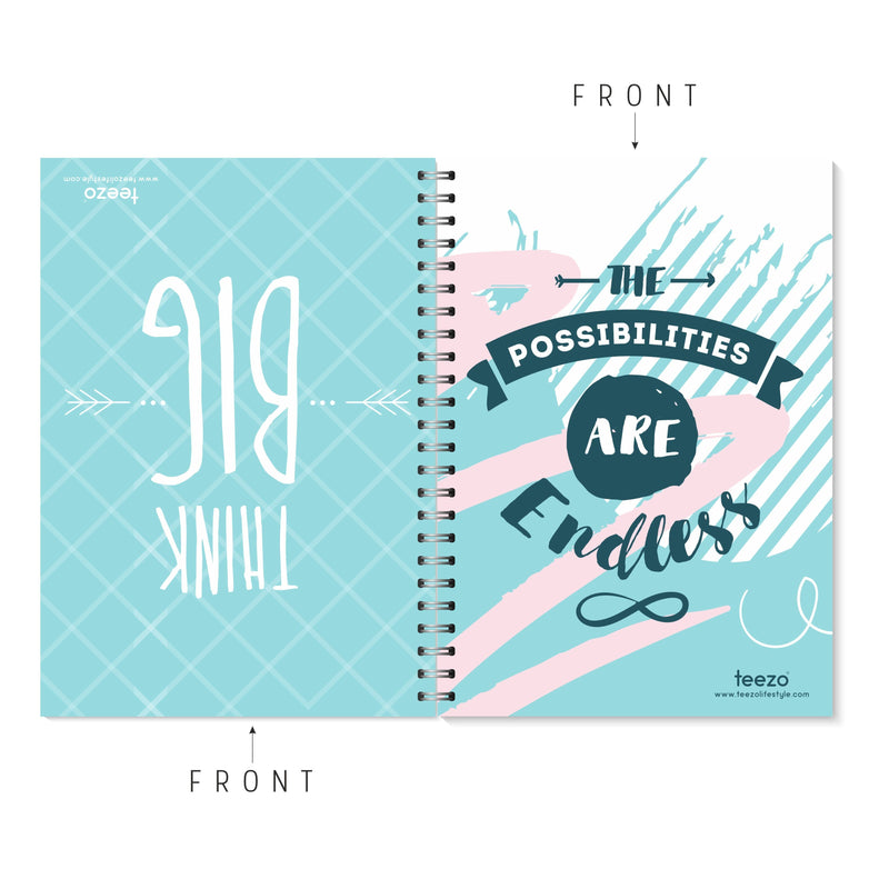 Think Big | The Possibilities Are Endless Two-Way Notebook - Teezo Lifestyle