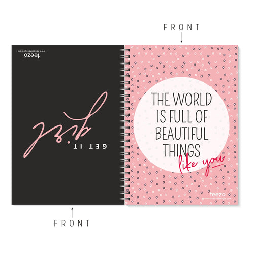 Get It Girl | The World Is Full Of Beautiful Things Two-Way Notebook - Teezo Lifestyle