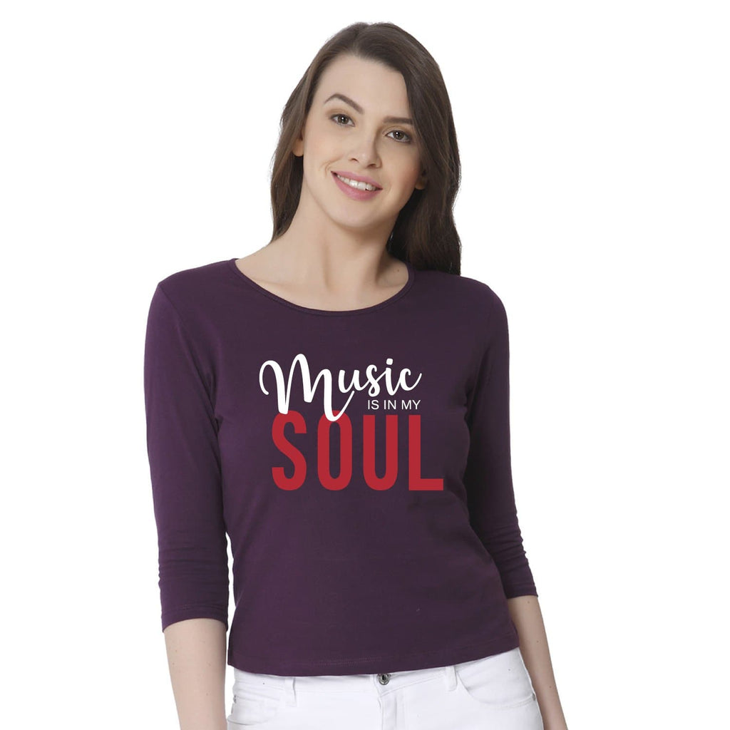Music is My Soul Women's Snip Top - Teezo Lifestyle
