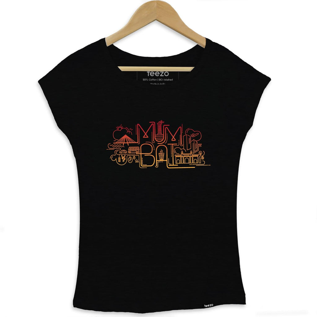 Mumbai City Art Womens T-shirt - Teezo Lifestyle