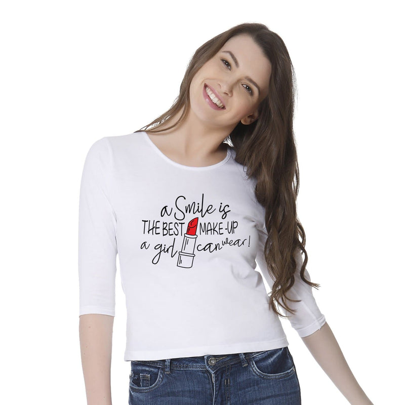A Smile Is The Best Makeup A Girl Can Wear Women's T-shirt - Teezo Lifestyle