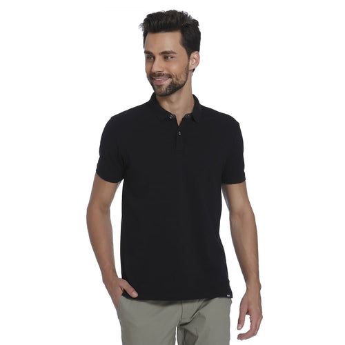 Black Pique Men's Polo T-shirt - Teezo Lifestyle