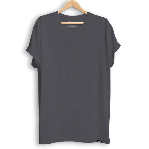 Plain Charcoal Melange Men's T-shirt - Teezo Lifestyle
