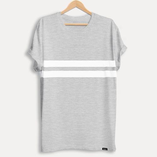 Grey Melange Striped Men's T-shirt - Teezo Lifestyle