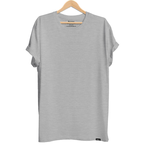 Plain Grey Melange Men's T-shirt - Teezo Lifestyle