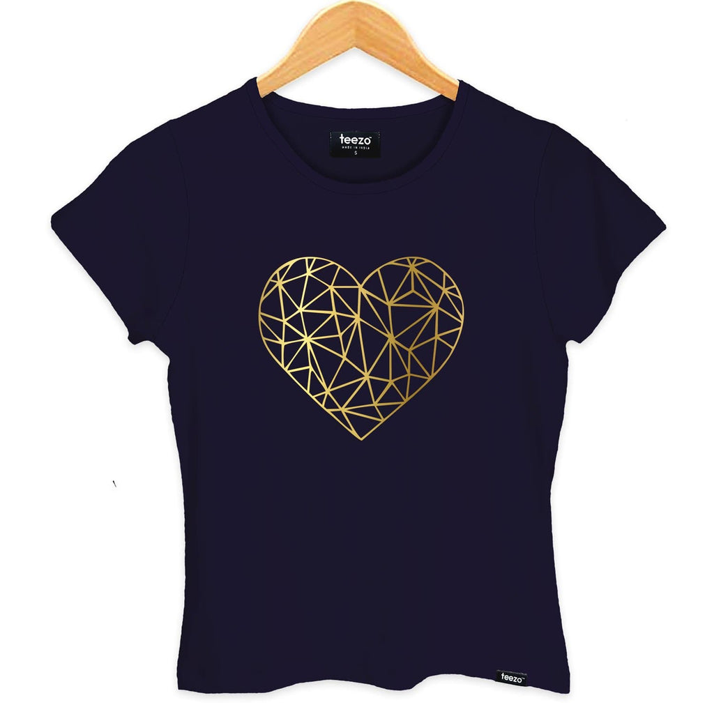 Heart Of Gold Women's T-shirt - Teezo Lifestyle
