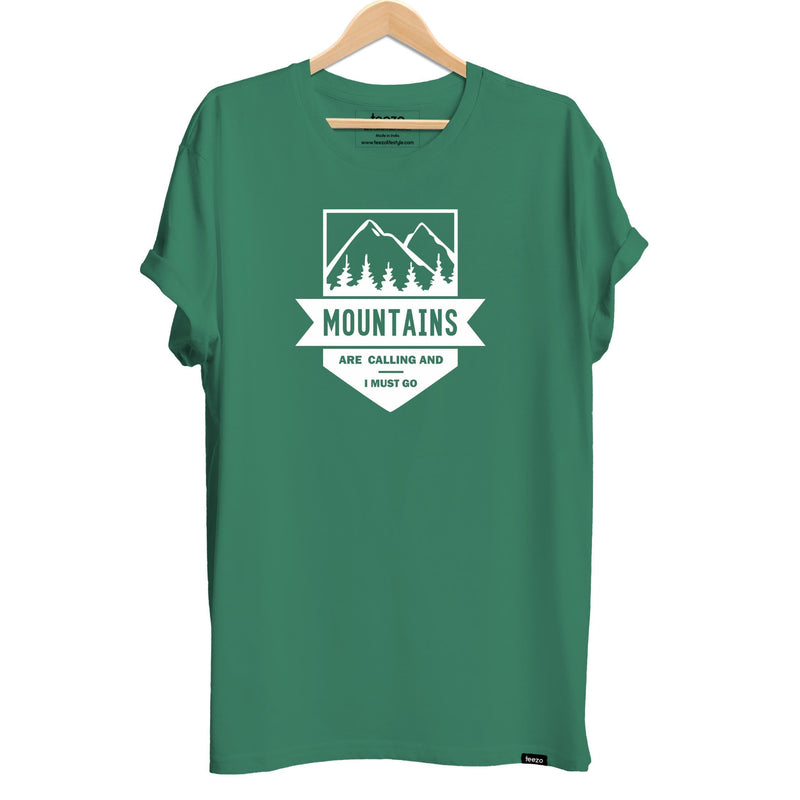 Mountains are Calling Men's T-shirt - Teezo Lifestyle