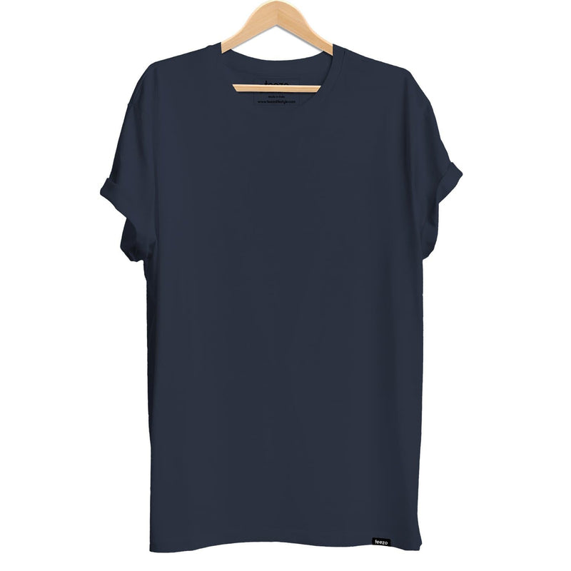 Plain Navy Blue Men's T-shirt - Teezo Lifestyle