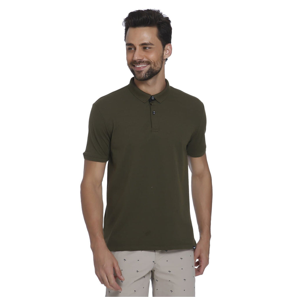 Olive Pique Men's Polo T-shirt - Teezo Lifestyle