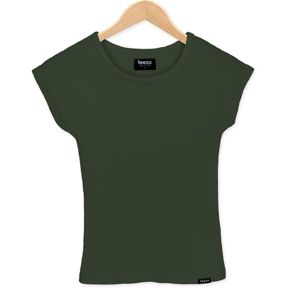 Plain Military Green Women's T-Shirt - Teezo Lifestyle