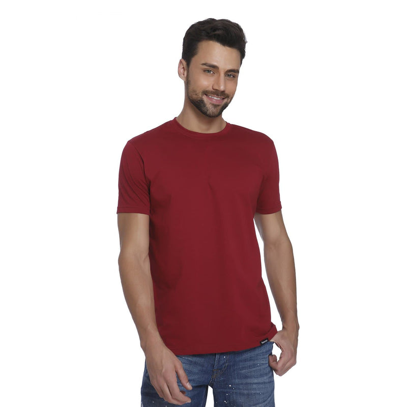 Plain Maroon Men's T-shirt - Teezo Lifestyle
