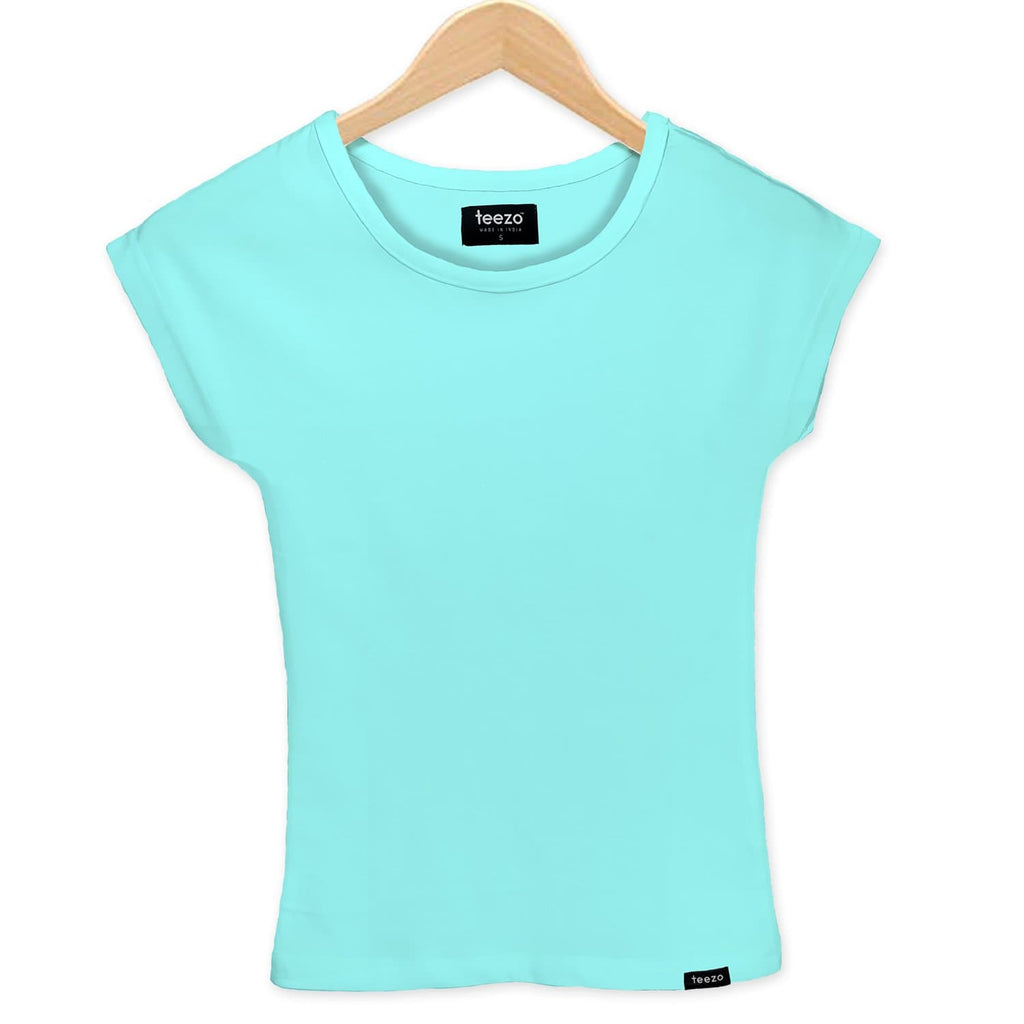 Plain Mint Women's T-shirt - Teezo Lifestyle