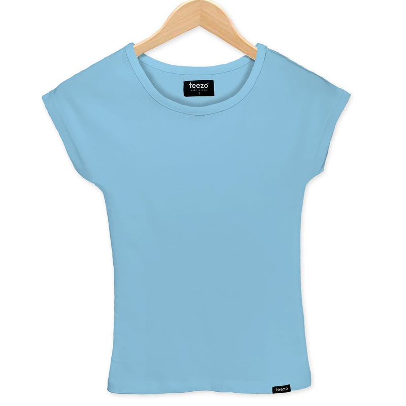 Plain Sky Blue Women's T-shirt - Teezo Lifestyle