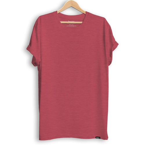 Plain Red Melange Men's T-shirt - Teezo Lifestyle