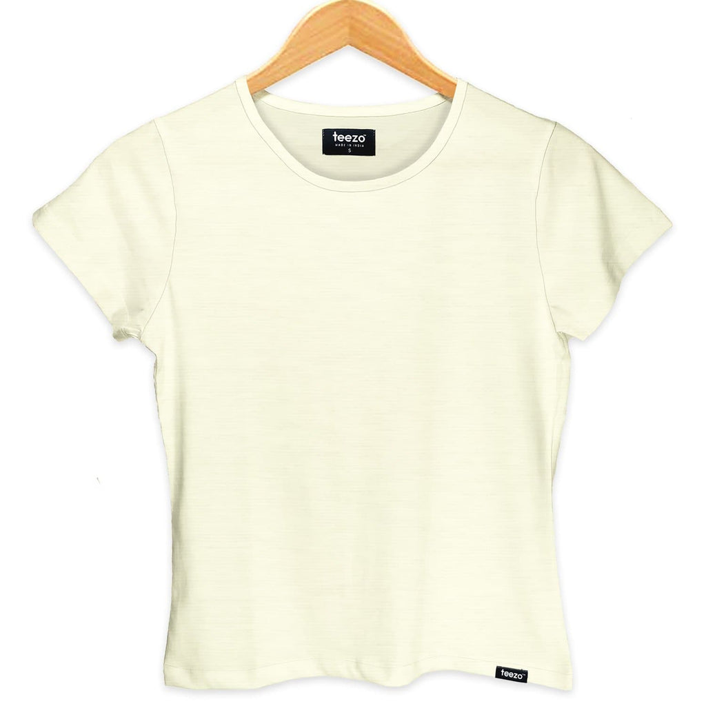 Plain Vanilla White Women's T-shirt - Teezo Lifestyle