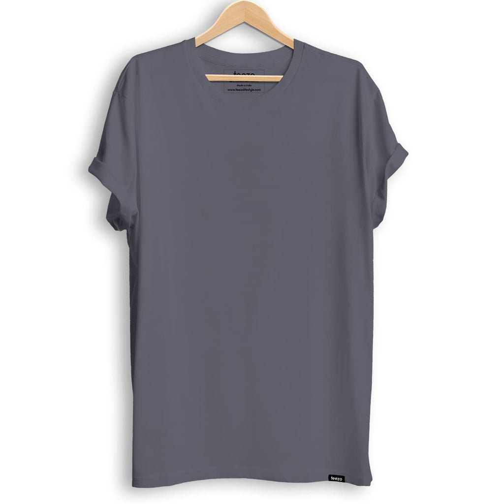 Plain Steel Grey Men's T-shirt - Teezo Lifestyle