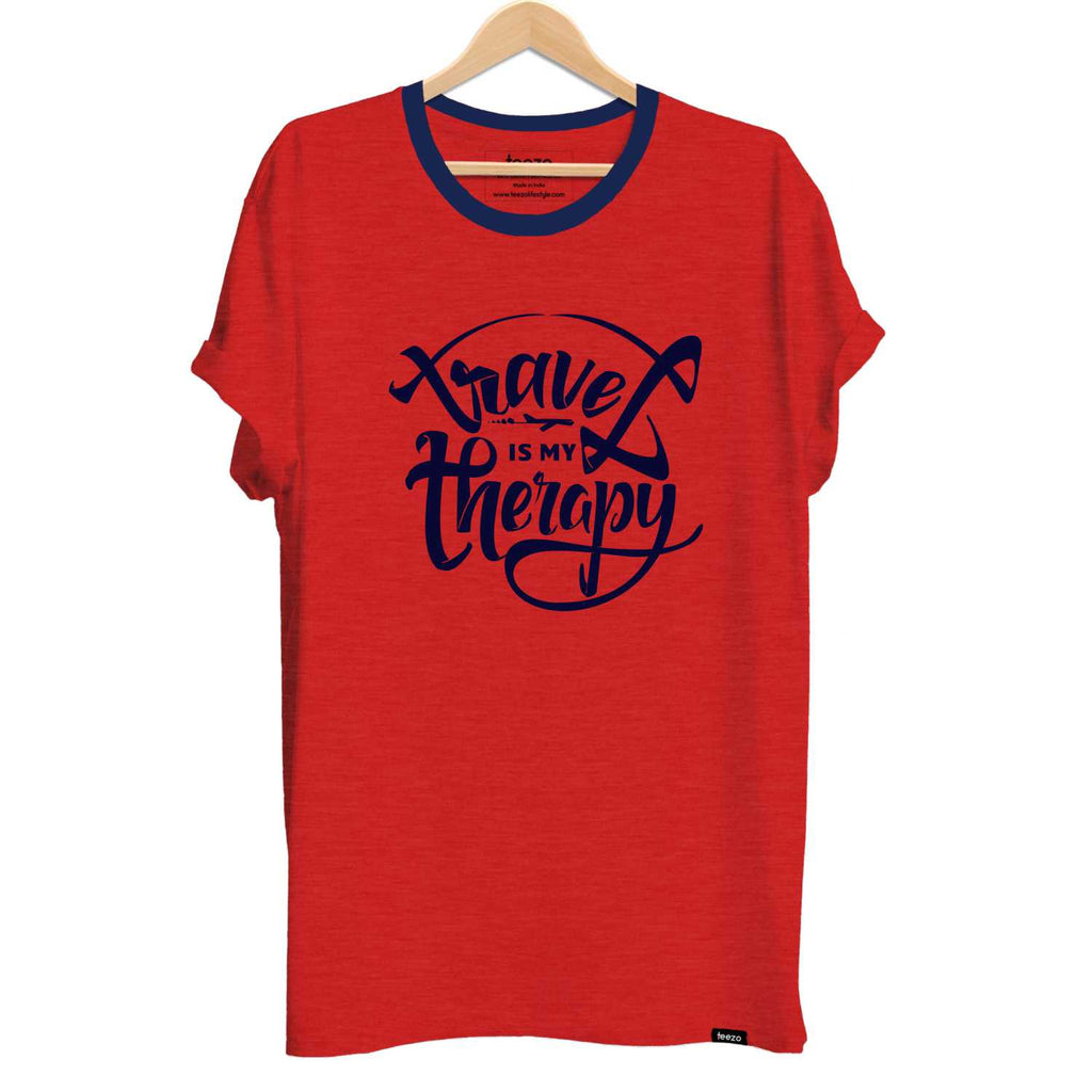 Travel Is My Therapy Men's T-shirt - Teezo Lifestyle