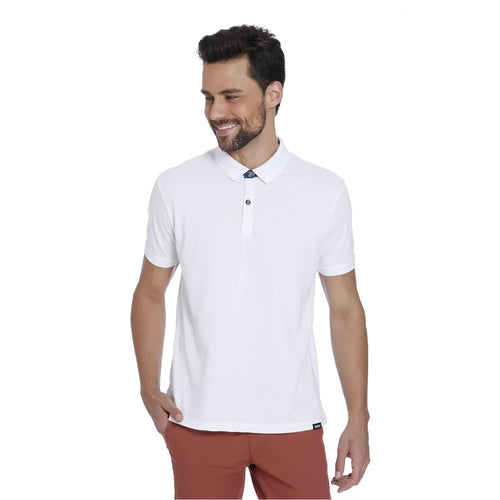 White Pique Men's Polo T-shirt - Teezo Lifestyle