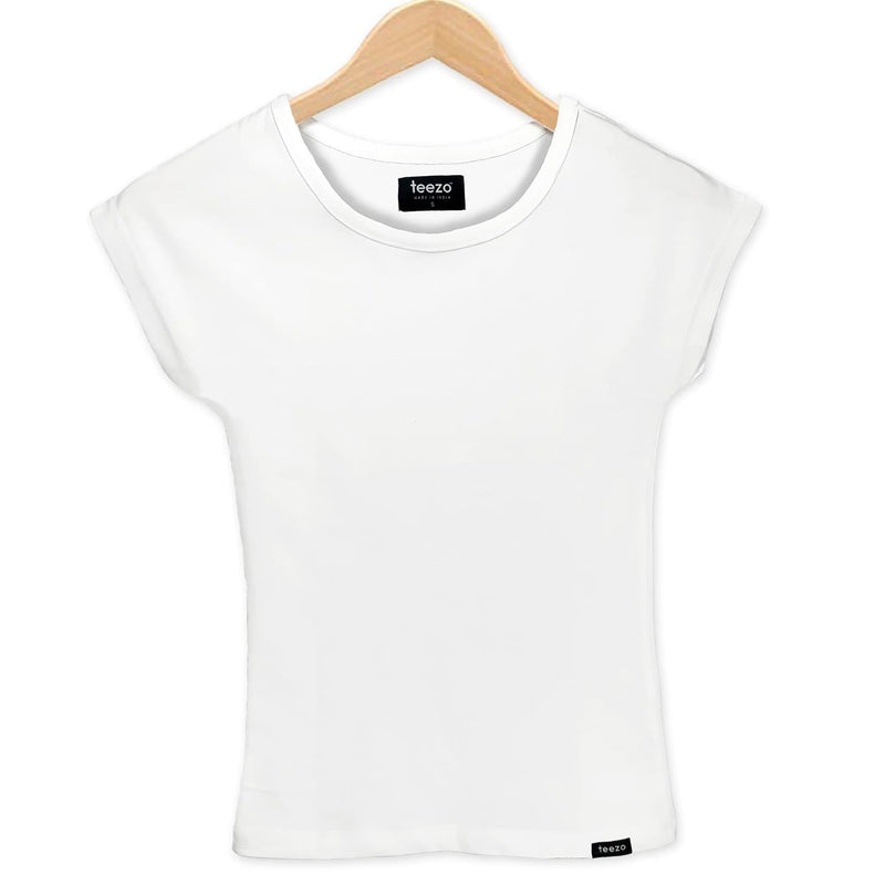 Plain White Women's T-Shirt - Teezo Lifestyle