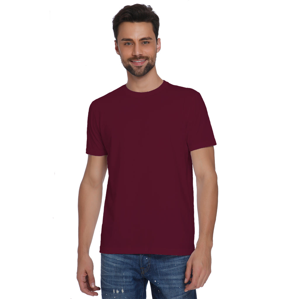 Plain Wine Red Men's T-shirt