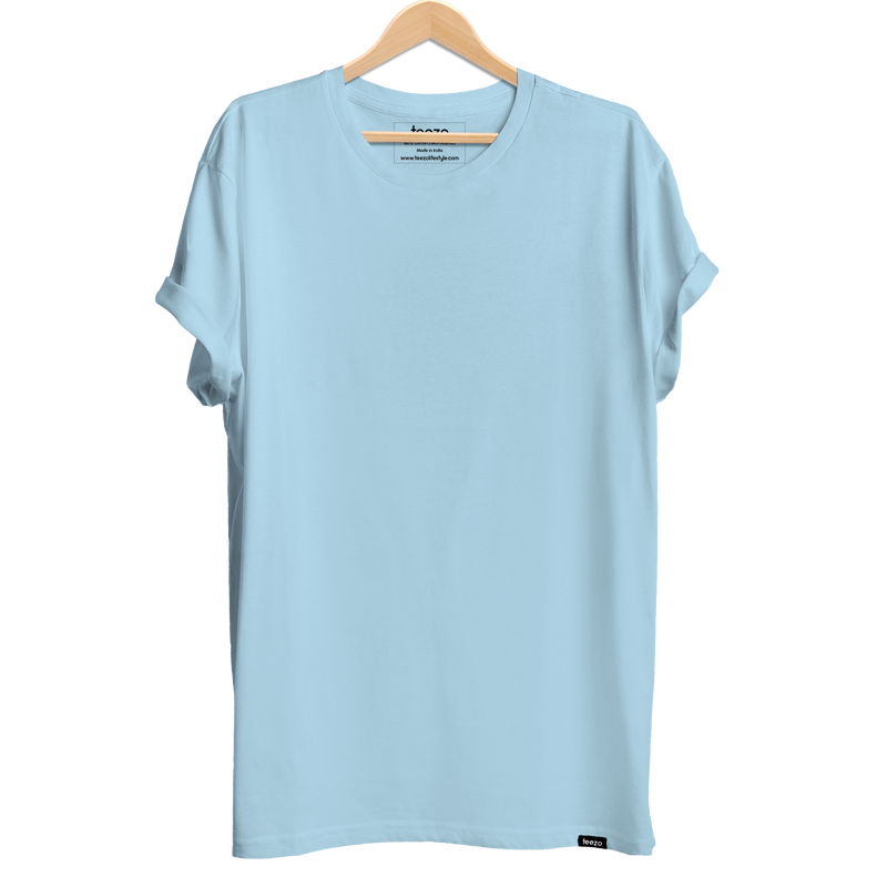 Plain Sky Blue Men's T-shirt - Teezo Lifestyle