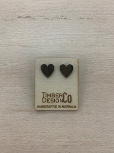 TIMBER DESIGN CO LOVE HEART DARK Stud