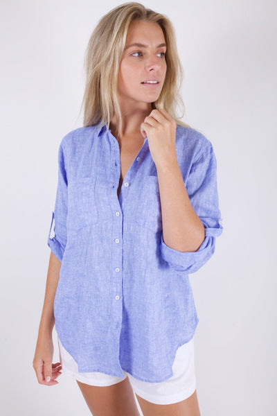 HUT - boyfriend linen shirt