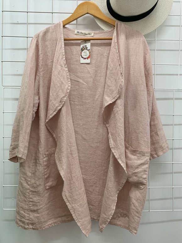 Waterfall Jacket Blush Pink