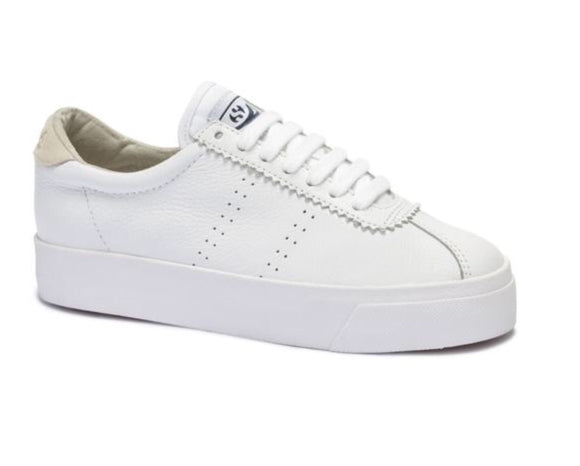 Superga Club3 Leasuew White- Beige